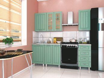 Модульная кухня Луксор клен бирюза