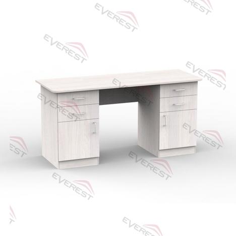 Стол компьютерный 2Т анкор белый